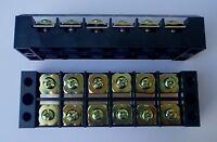 WIRE TERMINAL BLOCK STRIP 45 AMP 6 POLE 2 PC TB4506