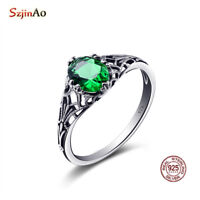 Authentic 925 Sterling Silver Ring Size 5 6 7 8 9 10  Women Birthstone Rings New