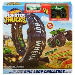 Hot Wheels Monster Truck Loop Challenge Track Play Set Kid Toy