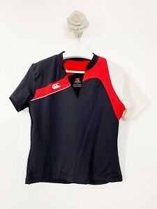 Canterbury Of New Zealand Hockey Rugby Top Size 16 Red White Black Short Sleeve