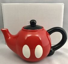 Disney Parks Mickey Mouse Pants Ceramic Teapot Tea Pot - NEW In Box