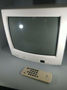 "Toshiba 13"" CRT TV Color Television Retro Gaming w/ remote"