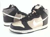 NIKE Dunk Sneakers High Top Brown/Champagne 309432-911 Womens US 7.5 / 38.5 RARE