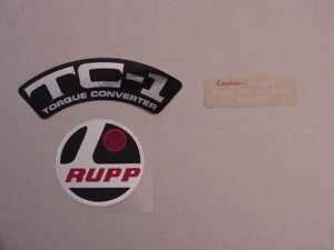 1971-75 RUPP MINI BIKE TORQUE CONVERTER  DECAL SET, REPRO