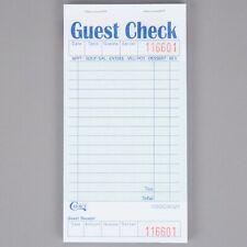 200 Case (10000 checks) 1 Part Guest Check w Bottom Guest Bill Receipts