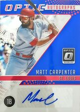 2018 Panini Donruss Optic #OA-MA 24/25 Matt Carpenter Autograph Cardinals MLB