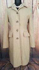Banana Republic Womens Wool Jacket Peacoat Coat Camel Tan Small S EUC!