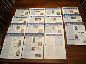 142 ISSUES KOVELS ANTIQUES AND COLLECTIBLES NEWSLETTERS - VG Condition PLUS ++++