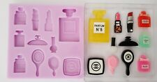 MAKE UP COSMETIC BEAUTY SILICONE MOULD FOR CAKE TOPPERS, CHOCOLATE, CLAY ETC