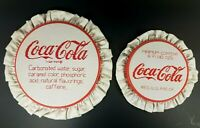 "Vintage Coca-Cola White and Red 9.5"" & 7.25"" Sewing Embroidery Pattern Art LOT"