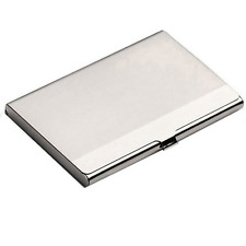 Credit Stainless Holder Silver Box Card Case Waterproof Business Namecard Clip