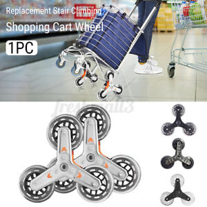 Shopping Cart Wheel Stair Climbing Barrow Laundry Trolley Tyre Replacement  +