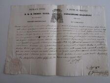 1846 EDITTO firma AUTOGRAFA CARDINALE PARRACIANI CIARELLI-t.SECCO+ARALDICO-f70