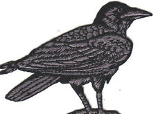Raven Facing Right Iron On  Embroidered Patch Birds Ravens