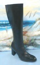 Valerie Stevens  Womens Black Leather Knee-high Heel Boot size 6.5 M