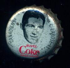 1964 65 COCA-COLA COKE BOTTLE CAP With CORK Claude Larose MONTREAL CANADIENS