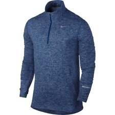 Nike Men's Dri-Fit Element Half-Zip Running Shirt M Blue Top Pullover Gym New