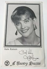 KATE RAISON *Cathy* A COUNTRY PRACTICE Original Ch7 Fan Card {Neighbours} Rare