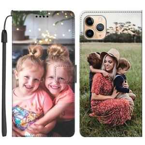 Personalised Flip Wallet PU Case Cover Custom For Apple iPhone 11 12 13 Pro Max