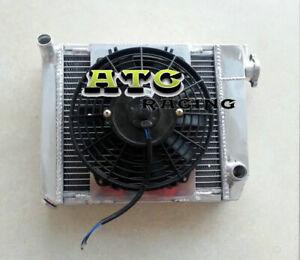 50mm Aluminum Radiator+Shroud+Fan for 1959-1997 Austin Rover Mini 1275 GT Racing