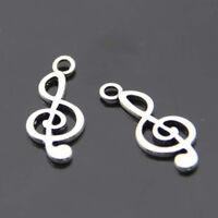 Art Design Tibetan Silver musical note 20 pcs beads Charms Pendant