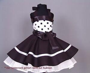 Mädchen 50-er Jahre Petticoat, Tanz,Einschulung Kleid Gr. 104-128 Schwarz/weiß