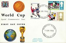GB 1966 World Cup Football PHOSPHOR  FDC First Day Cover Soccer  WM Wembley(0265
