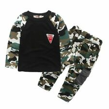 2PCS Kids Baby Boys Girls Camouflage suit Tops+Pants Kids Casual Sports Outfits