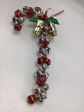 "Jingle Bell Candy Cane Christmas Wall Door Decoration Red Silver Green 13"" Large"