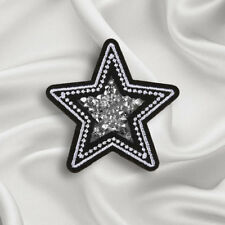 Embroidery Star Crystal Sew On Iron On Patch Badge Dress Applique Craft Transfer