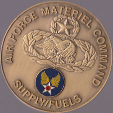 """USAF Wright Patterson AFB Ohio  material command supply fuels Coin 1.5"""" DIA   ch"""