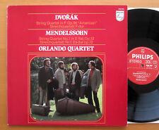 Philips 9500 995 Dvorak Mendelssohn Quartets Orlando Quartet 1981 EXCELLENT
