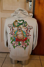 hooded jacket zipped tattoing ED HARDY c. audigier size XL NEW LABEL