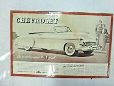 "Original 1949 Chevrolet "" Styleline "" Convertible Dealer Display Sign ! ! !"