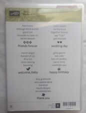 Stampin Up ~ Stacks of Wishes ~ Rubber Stamp Set