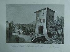 1845 Zuccagni-Orlandini Veduta di Castel Rozzone nella Provincia di Bergamo