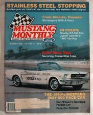 MUSTANG MONTHLY 1982 DEC - GT350+PAXTON+GURNEY HEADS