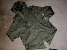 Men's~BLAC LACQUER~ARMY GREEN Hood Zip&Snaps Closure Pockets Jacket size M~NICE~