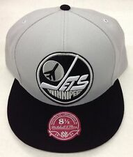 NHL Winnipeg Jets Mitchell and Ness Vintage Fitted Cap Hat M&N SEE DESCRIPTION