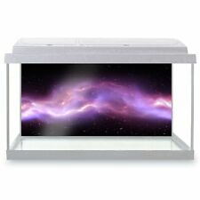 Fish Tank Background 90x45cm - Purple Pink Lightening Galaxy Nebula  #24231