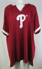 Philadelphia Phillies MLB Majestic Women's Red & White V-Neck Shirt
