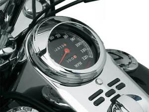 """Kuryakyn 112 Chrome 5"""" Speedometer Speedo Trim Ring Visors Harley Heritage Softa"""