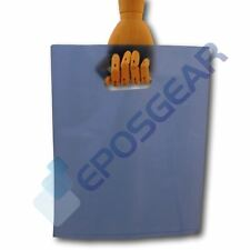 More details for 100 medium blue punch out handle gift fashion party market plastic carrier bags