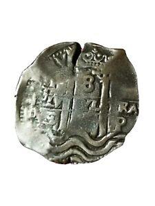 8 Real Cob 1678  Carlos ll,  Large   silver Potosi