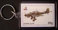 Luftwaffe JUNKERS Ju-87 STUKA Dive Bomber WWII Aircraft Stamp Keyring