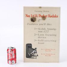 KODAK SIGN FOR NO. 1/1A POCKET KODAKS (DAMAGED)/cks/209860