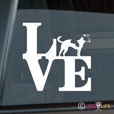 Love Jack Russel Terrier Sticker Die Cut Vinyl - park profile jrt parson v2