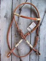 Headstall - Rounded Browband with Rawhide by Schutz Brothers