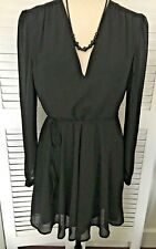 GLAMOROUS UK & EU XL EXQUISITE BNWT BLACK FIT & FLARE PARTY OCCASION DRESS