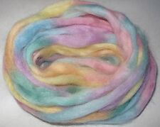 Rainbow (Space) Wool Roving, PASTEL, wet/needle felting, dreads, spinning, fibre
